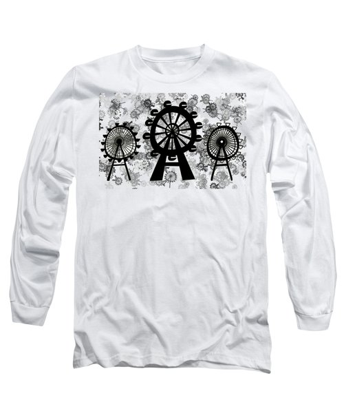 Ferris Wheel - London Eye Long Sleeve T-Shirt by Michal Boubin