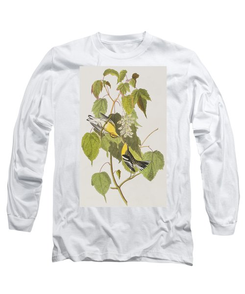 Hemlock Warbler Long Sleeve T-Shirt by John James Audubon