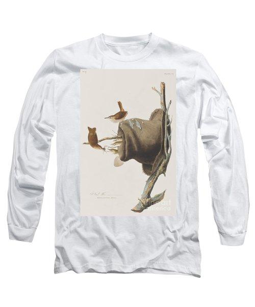House Wren Long Sleeve T-Shirt by John James Audubon