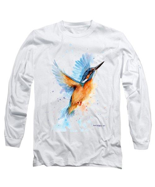 Kingfisher Long Sleeve T-Shirt by Sarah Stribbling