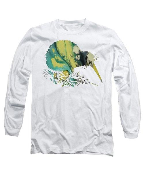 Kiwi Bird Long Sleeve T-Shirt by Mordax Furittus