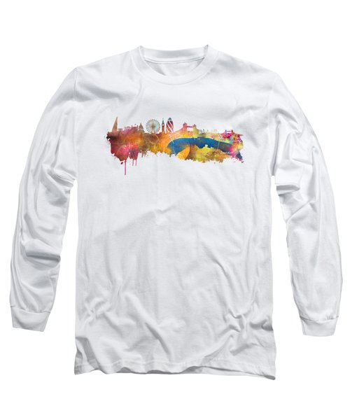 London Skyline Long Sleeve T-Shirt by Justyna JBJart