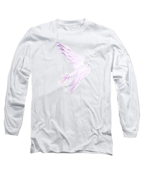 Magical Phoenix Bird Artistic Design Long Sleeve T-Shirt by Awen Fine Art Prints