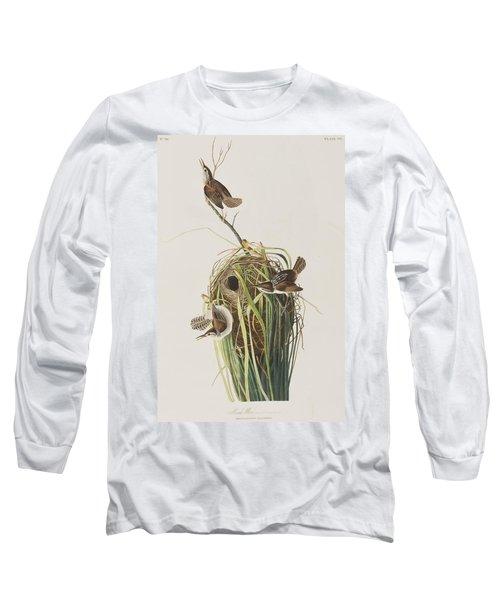 Marsh Wren  Long Sleeve T-Shirt by John James Audubon