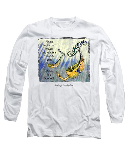 Mermaid Long Sleeve T-Shirt by W Gilroy