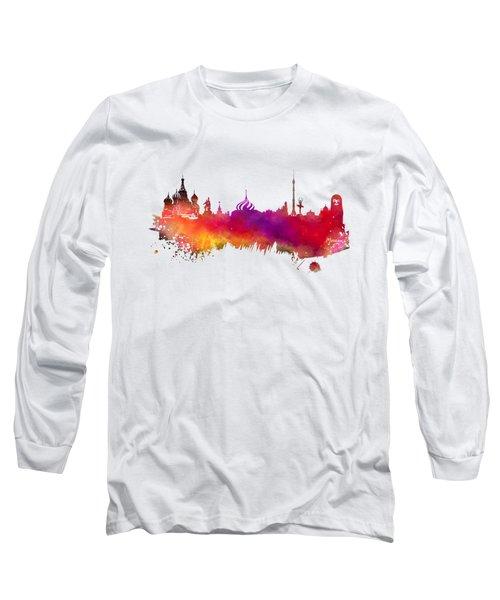 Moscow Skyline Long Sleeve T-Shirt by Justyna JBJart