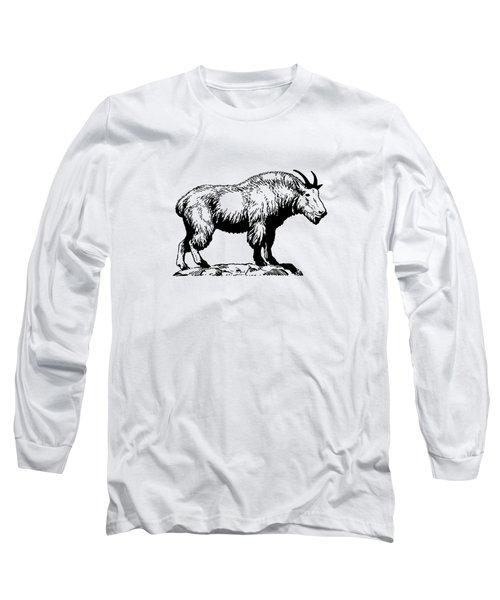 Mountain Goat Long Sleeve T-Shirt by Mordax Furittus
