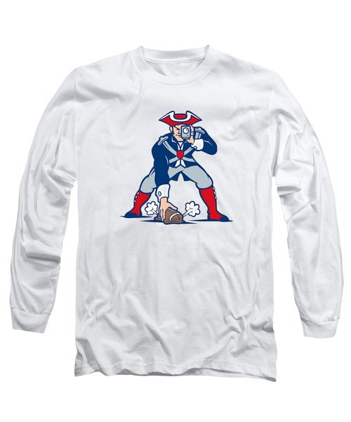 New England Patriots Parody Long Sleeve T-Shirt by Joe Hamilton