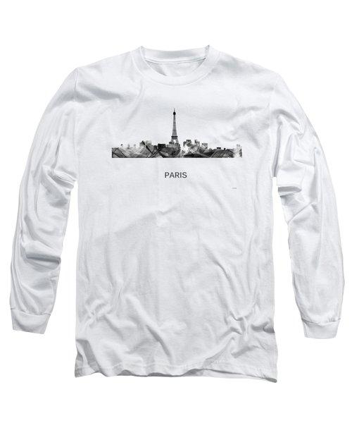 Paris France Skyline Long Sleeve T-Shirt by Marlene Watson