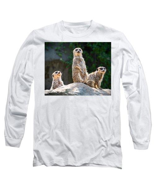 Three's Company Long Sleeve T-Shirt by Jamie Pham