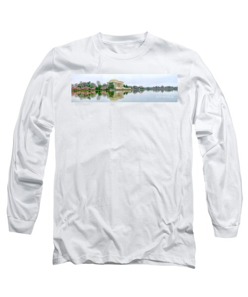 Tidal Basin With Cherry Blossoms Long Sleeve T-Shirt by Jack Schultz