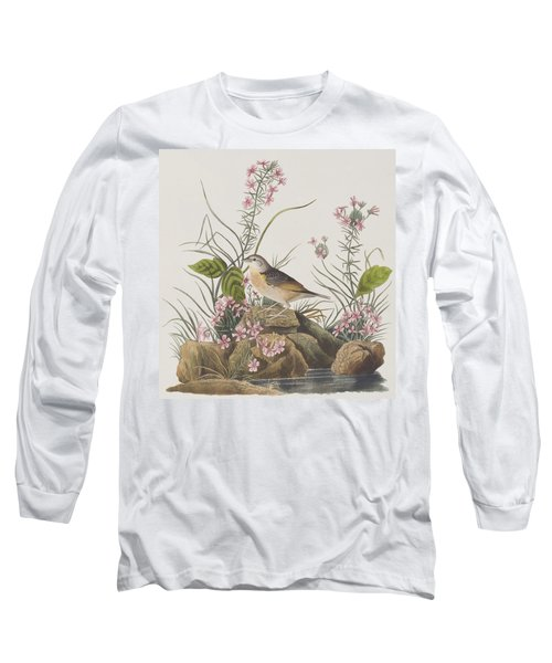 Yellow-winged Sparrow Long Sleeve T-Shirt by John James Audubon