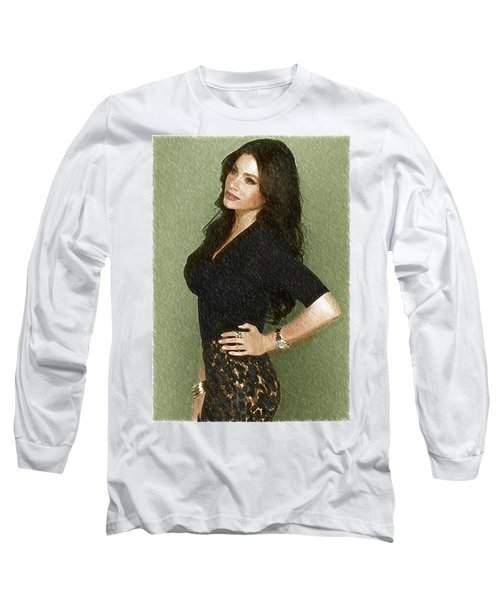 Celebrity Sofia Vergara  Long Sleeve T-Shirt by Best Actors