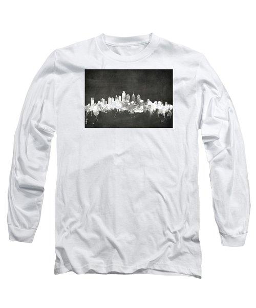 Philadelphia Pennsylvania Skyline Long Sleeve T-Shirt by Michael Tompsett