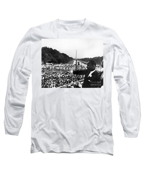 Martin Luther King, Jr Long Sleeve T-Shirt by Granger