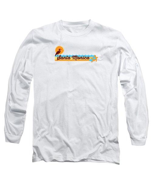 Santa Monica Long Sleeve T-Shirt by American Roadside