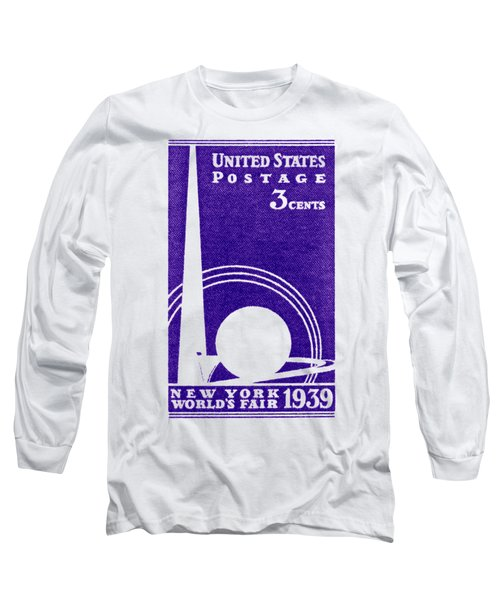 1939 New York Worlds Fair Stamp Long Sleeve T-Shirt by Historic Image