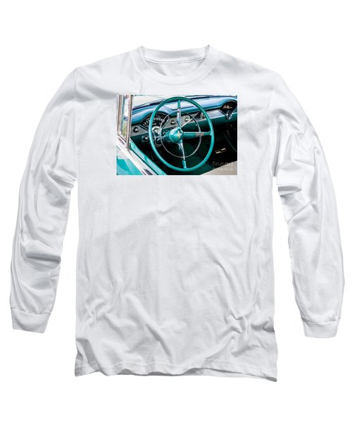 Long Sleeve T-Shirt featuring the photograph 1955 Chevrolet Bel Air by M G Whittingham