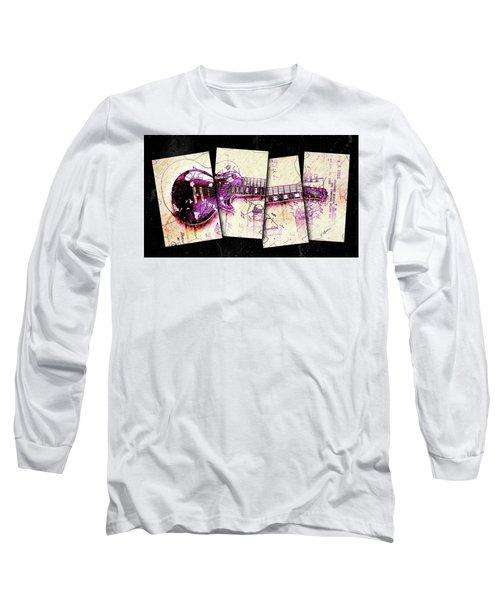 1955 Les Paul Custom Black Beauty V3 Long Sleeve T-Shirt by Gary Bodnar