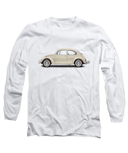 1965 Volkswagen 1200 Deluxe Sedan - Panama Beige Long Sleeve T-Shirt by Ed Jackson