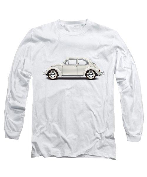 1966 Volkswagen 1300 Sedan - Pearl White Long Sleeve T-Shirt by Ed Jackson