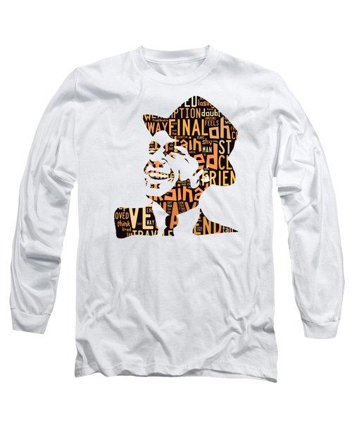 Frank Sinatra I Did It My Way Long Sleeve T-Shirt by Marvin Blaine