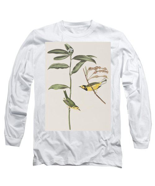 Hooded Warbler  Long Sleeve T-Shirt by John James Audubon