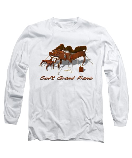 Soft Grand Piano  Long Sleeve T-Shirt by Mike McGlothlen