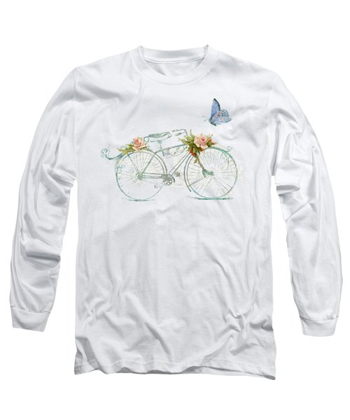 Summer At Cape May - Bicycle Long Sleeve T-Shirt by Audrey Jeanne Roberts
