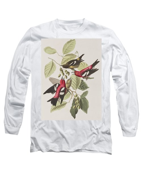 White-winged Crossbill Long Sleeve T-Shirt by John James Audubon