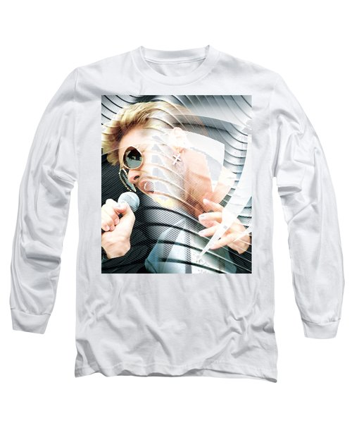 George Michael Collection Long Sleeve T-Shirt by Marvin Blaine
