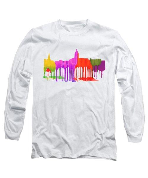 Annapolis Maryland Skyline      Long Sleeve T-Shirt by Marlene Watson