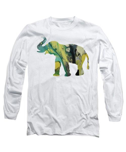 Elephant Long Sleeve T-Shirt by Mordax Furittus