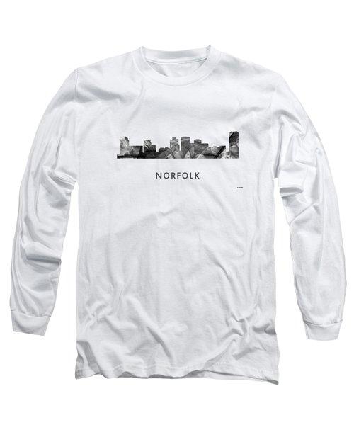 Norfolk Virginia Skyline Long Sleeve T-Shirt by Marlene Watson