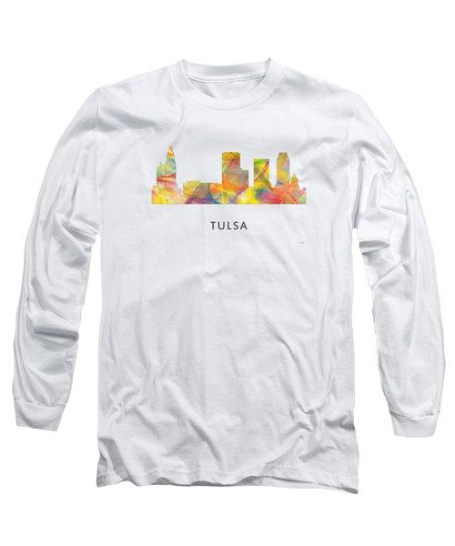 Tulsa Oklahoma Skyline Long Sleeve T-Shirt by Marlene Watson