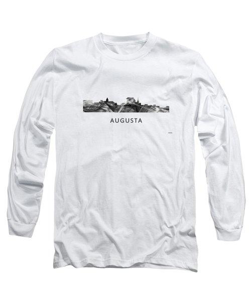 Augusta Maine Skyline Long Sleeve T-Shirt by Marlene Watson