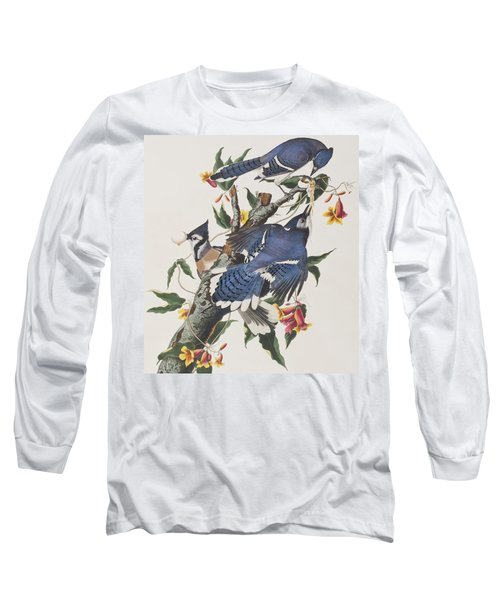 Blue Jay Long Sleeve T-Shirt by John James Audubon