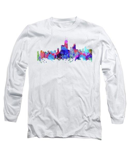 Chicago  Long Sleeve T-Shirt by JW Digital Art