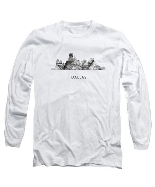 Dallas Texas Skyline Long Sleeve T-Shirt by Marlene Watson