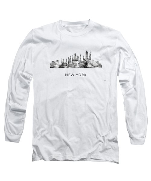 New York New York Skyline Long Sleeve T-Shirt by Marlene Watson