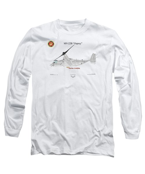 Bell Boeing Mv-22b Osprey Long Sleeve T-Shirt by Arthur Eggers