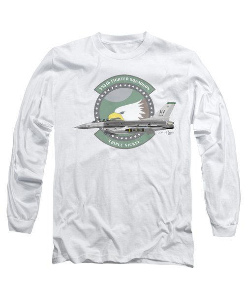 Lockheed Martin F-16c Viper Long Sleeve T-Shirt by Arthur Eggers