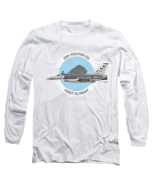 Lockheed Martin F-16c Viper Long Sleeve T-Shirt by Arthur Eggers