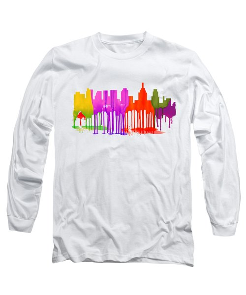 Philadelphia Pennsylvania Skyline Long Sleeve T-Shirt by Marlene Watson