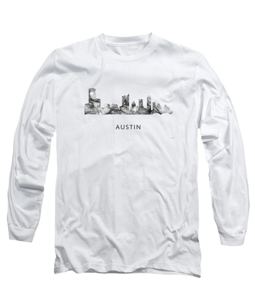 Austin Texas Skyline Long Sleeve T-Shirt by Marlene Watson