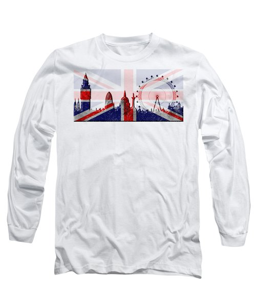 London Skyline Long Sleeve T-Shirt by Michal Boubin