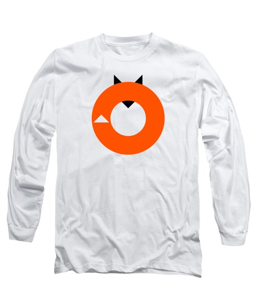 A Most Minimalist Fox Long Sleeve T-Shirt by Nicholas Ely
