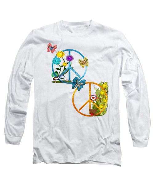 A Very Hippy Day Whimsical Fantasy Long Sleeve T-Shirt by Sharon and Renee Lozen