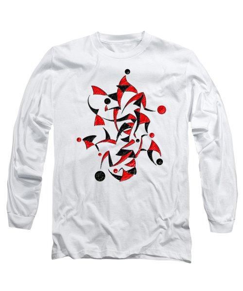 Abugila V6 - Digital Abstract Long Sleeve T-Shirt by Cersatti
