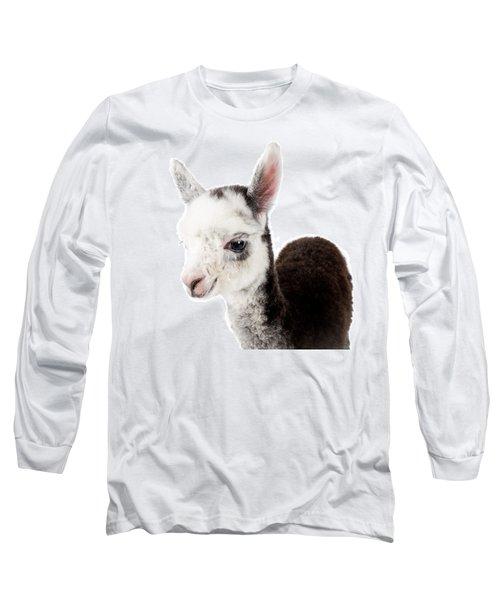 Adorable Baby Alpaca Cuteness Long Sleeve T-Shirt by TC Morgan